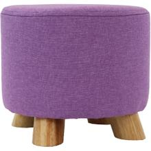 See Details - Critter Sitters 10-Inch Purple Upholstered Mini Foot Stool with Wooden Legs, CSFTSTL-PUR
