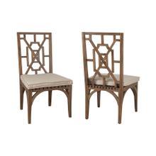 Teak Patio Dining Chair Cushion in Cream