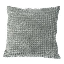 Grey Stonewashed Waffle Pillow