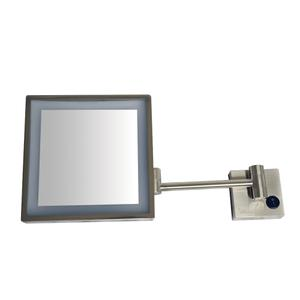 Square Wall Mount Led 5X Magnified Mirror Product Image