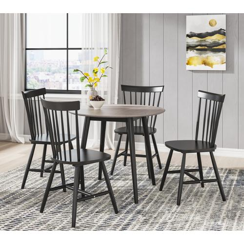 Emerald Home Furnishings - Round Dropleaf Dining Table