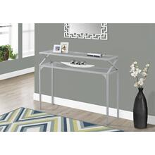 """ACCENT TABLE - 42""""L / SILVER METAL HALL CONSOLE"""