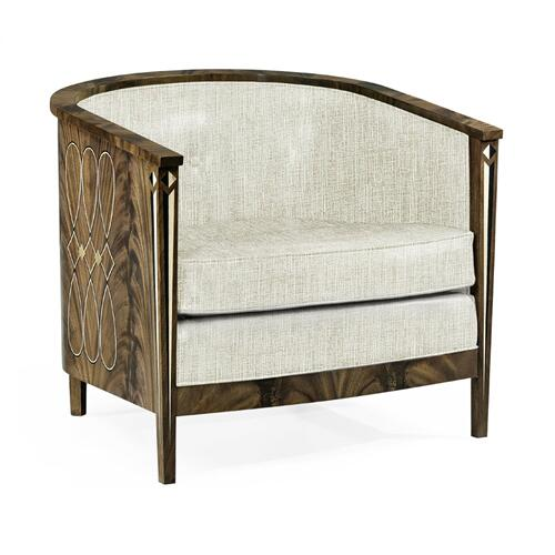 Buckingham Bleached Mahogany Tub Chair, Upholstered in Shambala