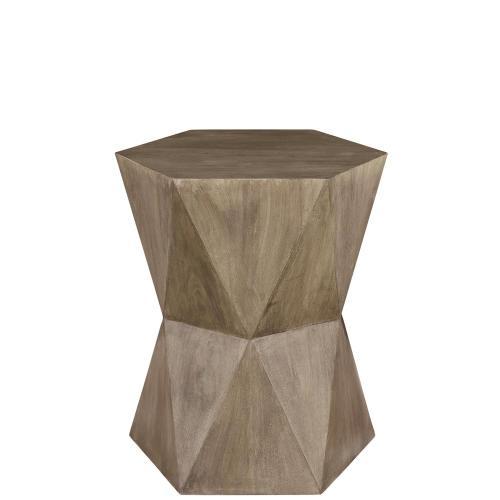 Concave Side Table - Portabella Finish