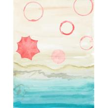 Watercolor Beach Stains I By Gina Ritter