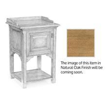 See Details - Elizabethan style natural oak bedside table