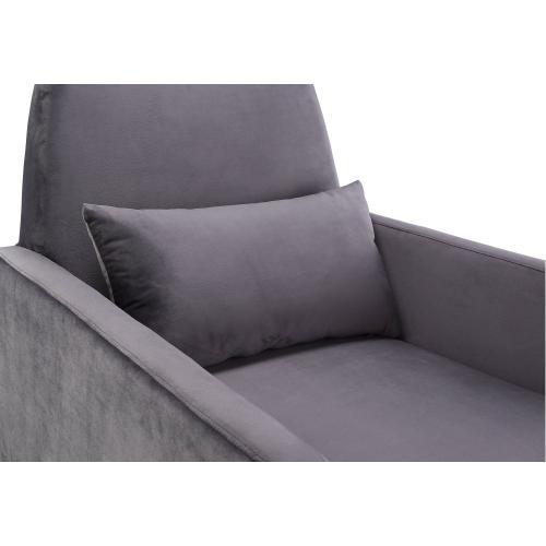 Danner Grey Velvet Chair