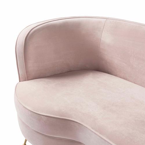 Tov Furniture - Flare Blush Velvet Sofa