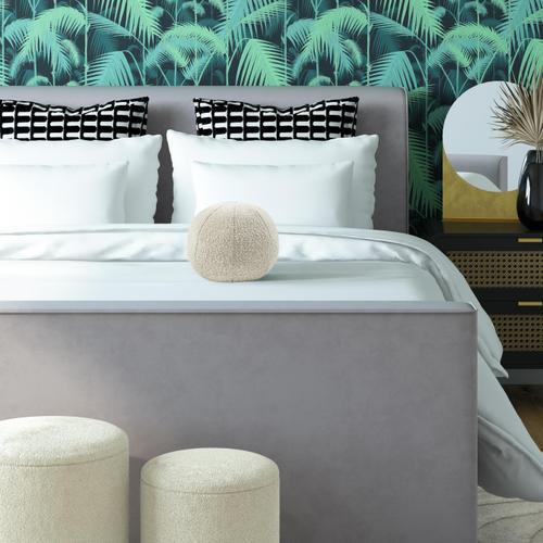 "Tov Furniture - Boba 14"" Beige Boucle Pillow"