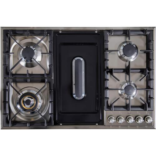 36 Inch Natural Gas Cooktop in Stainless Steel