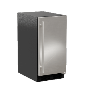 Marvel15-In Low Profile Built-In Clear Ice Machine, Gravity Drain Application with Door Style - Stainless Steel