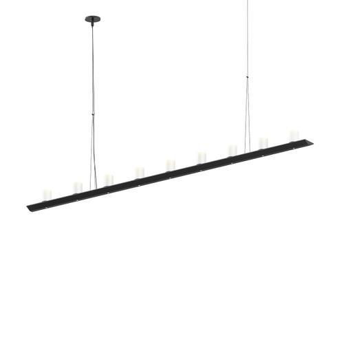 "Sonneman - A Way of Light - Votives LED Bar Pendant [Size=6', Color/Finish=Satin Black, Shade Size=3"" height x 2.25"" diameter]"
