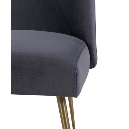 Product Image - Batik Grey Velvet Dining Chair