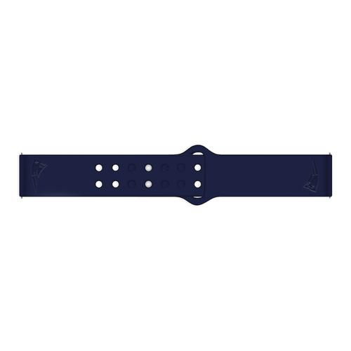 New England Patriots Debossed Silicone Watch Band (20mm) Navy Blue