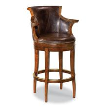 Swivel Leather Counter Stool
