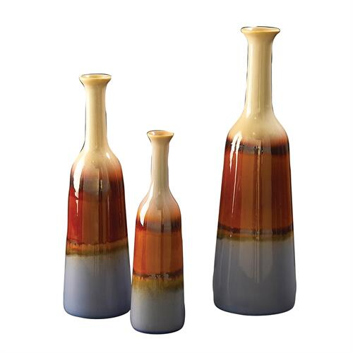 Ocean Bottle Ceramic Vase Set