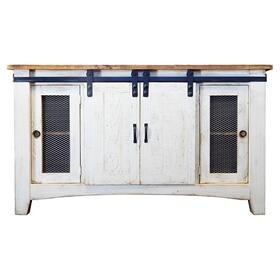 Barn Door TV Stand 2 Drawer