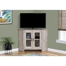 "TV STAND - 42""L / TAUPE RECLAIMED WOOD-LOOK CORNER"