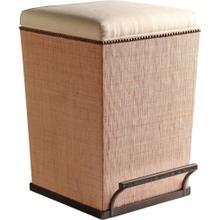 Ecru Fabric Purveyor Counter Stool in Sand Finish