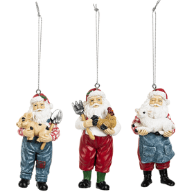 Farmer Santa Ornaments (6 pc. ppk.)