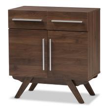 See Details - Baxton Studio Ashfield Mid-Century Modern Walnut Brown Finished Wood Sideboard