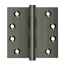 """View Product - 4"""" x 4"""" Square Hinges - Antique Nickel"""