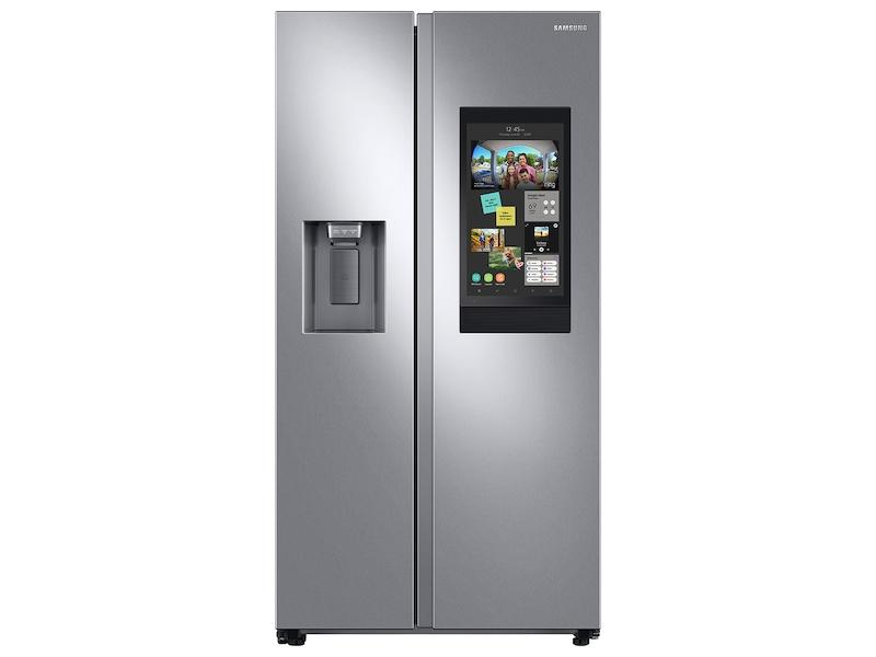 Samsung22 Cu. Ft. Counter Depth Side-By-Side Refrigerator With Touch Screen Family Hub™ In Stainless Steel