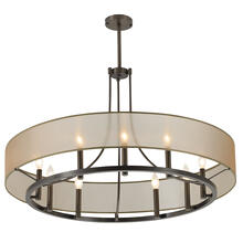 "Ghost 36"" Chandelier with Glass - Architectural Bronze"