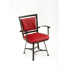 See Details - Steel Traditions - Amarillo Swivel Dining Chair With Leather Seat