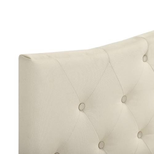 Accentrics Home - Tufted Arch Upholstered Queen Platform Bed in Beige