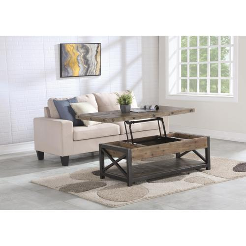 Gallery - Carpenter Rectangular Lift-Top Coffee Table with Casters