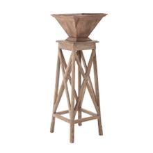 Leiden Wood and Metal Plant Stand