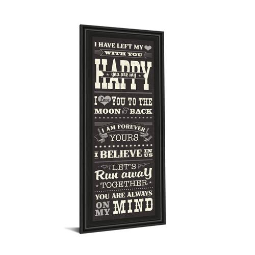 "Classy Art - ""L-O-V-E Il"" By Pela Studio Framed Print Wall Art"