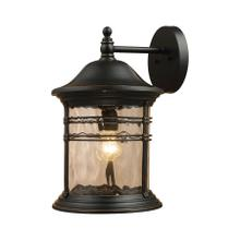 See Details - Madison 1-Light Outdoor Wall Lantern in Matte Black