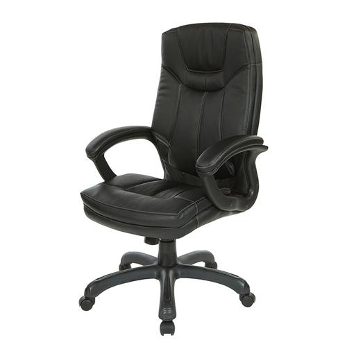 Office Star - Thick padded contour seat and back with built-in lumbar support