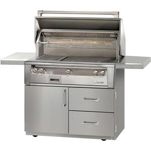 "Alfresco42"" Sear Zone Grill with Deluxe Cart"