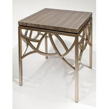 """End Table with Glass 24x24x25.5"""""""