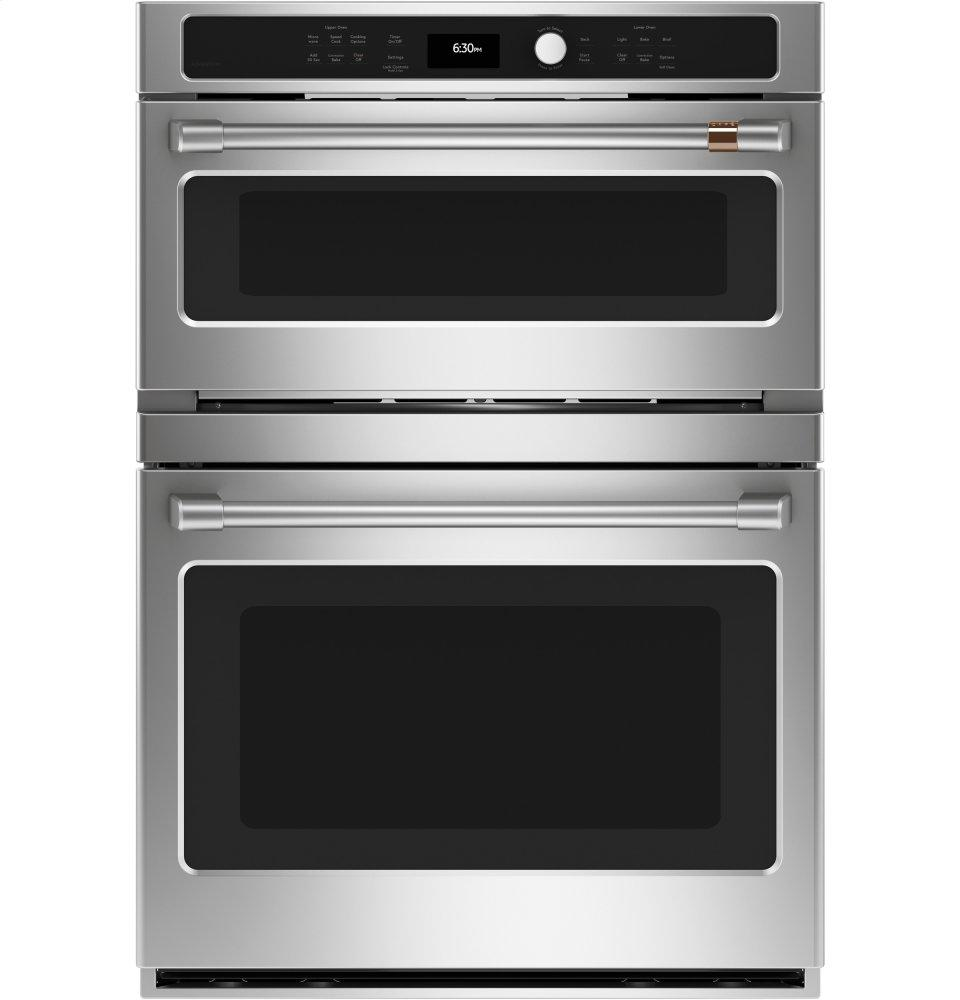 Cafe Appliances30 In. Combination Double Wall Oven With Convection And Advantium &Reg; Technology