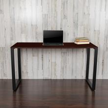 "Modern Commercial Grade Desk Industrial Style Computer Desk Sturdy Home Office Desk - 55"" Length-Mahogany"