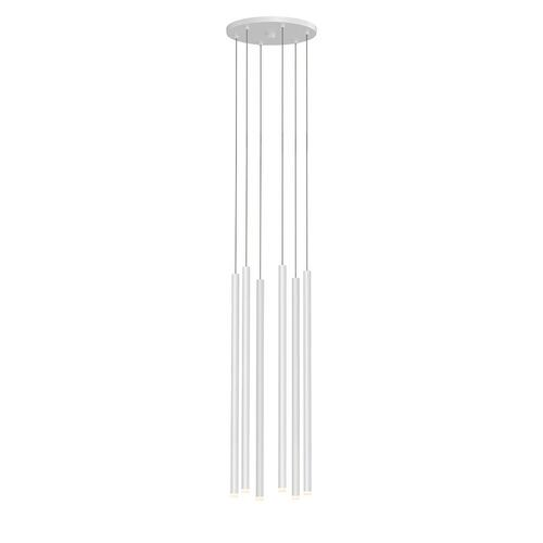 "Sonneman - A Way of Light - Light Chimes LED Pendant [Size=6-Light 24"", Color/Finish=Satin White]"