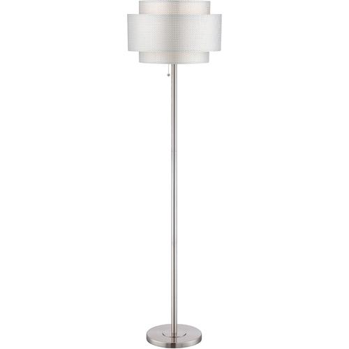 Floor Lamp, Ps/silver Paper Shade, E27 Cfl 23w