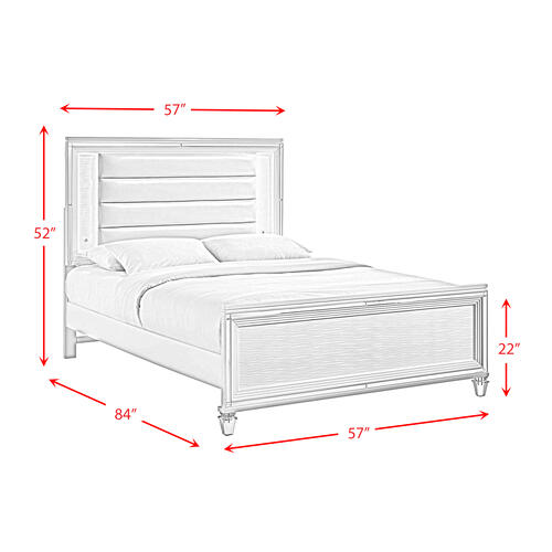 Twenty Nine Youth Full Bed in White