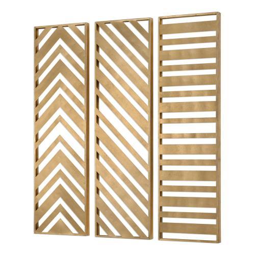 Zahara Metal Wall Panels, S/3