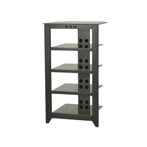 Product Image - Black Audio Stand Contemporary design and solid construction come together to create strength and beauty