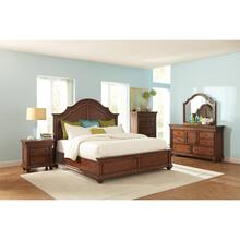 Windward Bay - Queen/king Bed Rails - Warm Rum Finish