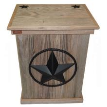 Product Image - Trash Can - Single - Steel Star W/rope - Black