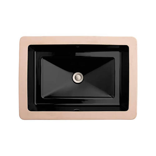 Dxv - Pop Rectangle Under Counter Bathroom Sink - Black