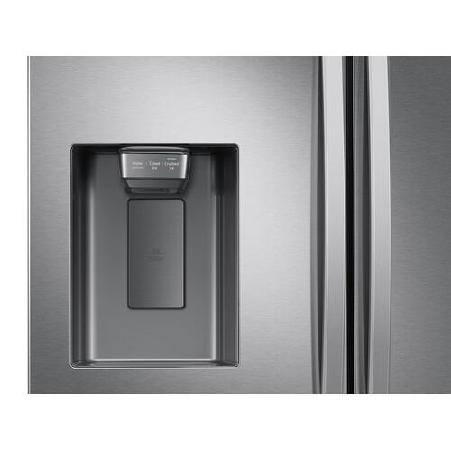 27 cu. ft. Large Capacity 3-Door French Door Refrigerator with Dual Ice Maker in Stainless Steel
