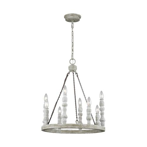 Norridge Small Chandelier Distressed Fence Board / Distressed White