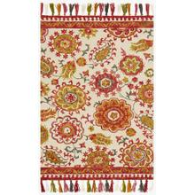 View Product - FH-01 Ivory / Berry Rug